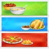 Baner för Iftar parti stock illustrationer