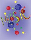 Baner för inbjudan för musikfestival Royaltyfri Fotografi