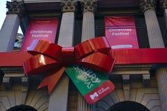 Baner för julfestival och för glad jul arkivbild