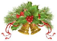 Baner för julklockor Arkivbilder