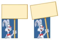 Baner för kanininnehavmellanrum Royaltyfria Foton