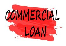 Baner för kommersiellt lån royaltyfri illustrationer
