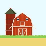 Baner för lantgårdfält Arkivfoto