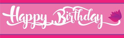 Baner för lycklig födelsedag för flicka Arkivfoton