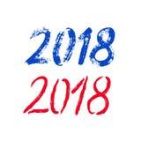 Baner för lyckligt nytt år för borste 2018 Royaltyfria Foton