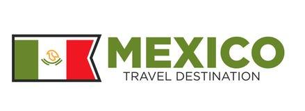 Baner för Mexico loppdestination Royaltyfri Bild