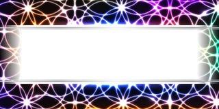 Baner för mitt för Cicrle symmetri färgrikt royaltyfri illustrationer