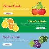 Baner för ny frukt Royaltyfri Foto