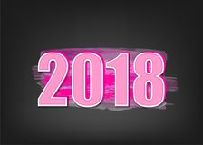 baner för nytt år 2018 Arkivbilder