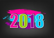 baner för nytt år 2018 Arkivfoton