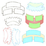 Baner för olika former av inskrifter och diagram vektor illustrationer