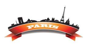 Baner för Paris horisontkontur Arkivfoto