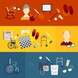 Baner för pensionärlivlägenhet Arkivbilder