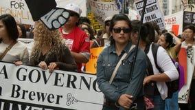 Baner för protest för `-GIRIGHET` stock video