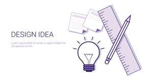 Baner för rengöringsduk för designidéaffärsidé med kopieringsutrymme vektor illustrationer