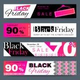 Baner för rengöringsduk för Black Friday planlägger idérika sociala massmediaförsäljning vektor illustrationer