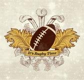 Baner för rugbyboll royaltyfri illustrationer
