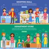 Baner för shoppinggalleriavaruhus 2 vektor illustrationer