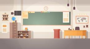 Baner för skrivbord för bräde för skolaklassrum inre royaltyfri illustrationer