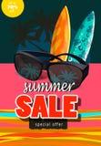 Baner för sommarförsäljningsmall Royaltyfri Fotografi