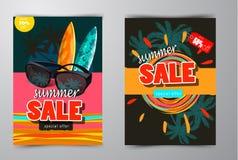 Baner för sommarförsäljningsmall Royaltyfria Bilder