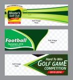 Baner för sportbakgrundsvåg Arkivbild