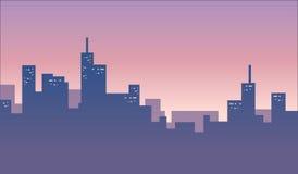 Baner för stadshorisontbakgrund Arkivfoton