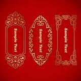 Baner för tre kinesiskt tappningbeståndsdelar Arkivfoton