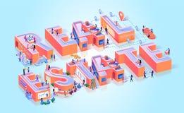 Baner för typografi för Real Estate egenskapsutveckling stock illustrationer