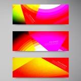Baner 2 11.09.13 för uppsättning för vektorpolygonstown Royaltyfri Fotografi