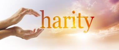 Baner för välgörenhetaktionbegrepp royaltyfri bild