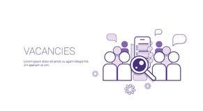 Baner för vakansJob Position Business Concept Template rengöringsduk med kopieringsutrymme Arkivbild