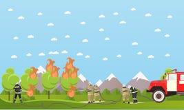 Baner för vektor för avdelning för brandstridighet stock illustrationer