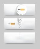 Baner för vektorcirkeluppsättning. broschyrmall Royaltyfri Bild