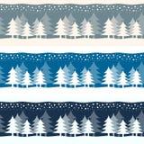 Baner för träd för juljultidvinter Arkivfoto