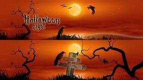 baner halloween stock illustrationer