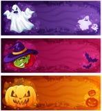 baner halloween royaltyfri illustrationer