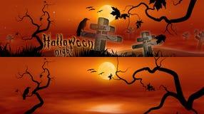 baner hallowen royaltyfri illustrationer