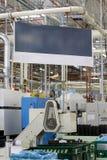 Baner i fabrik Royaltyfri Foto