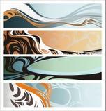 baner idérika fyra vektor illustrationer