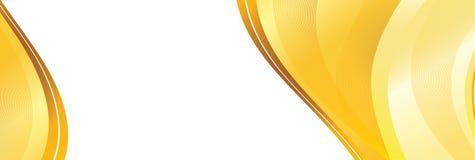 Baner jaune abstrait Image libre de droits