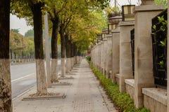 Baner lång trottoar Royaltyfri Foto