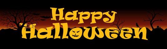 baner lyckliga halloween Royaltyfri Bild