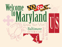 Baner Maryland stock illustrationer