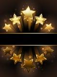 Baner med fem stjärnor stock illustrationer