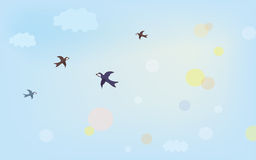Baner med luft i himlen Royaltyfri Fotografi