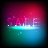 Baner med neoninskriften Sale Royaltyfria Foton