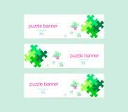 Baner med pusseldesign Fotografering för Bildbyråer