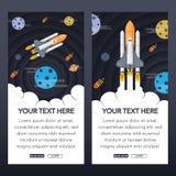 Baner med raket Arkivbilder