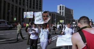 Baner med Sentsov stock video